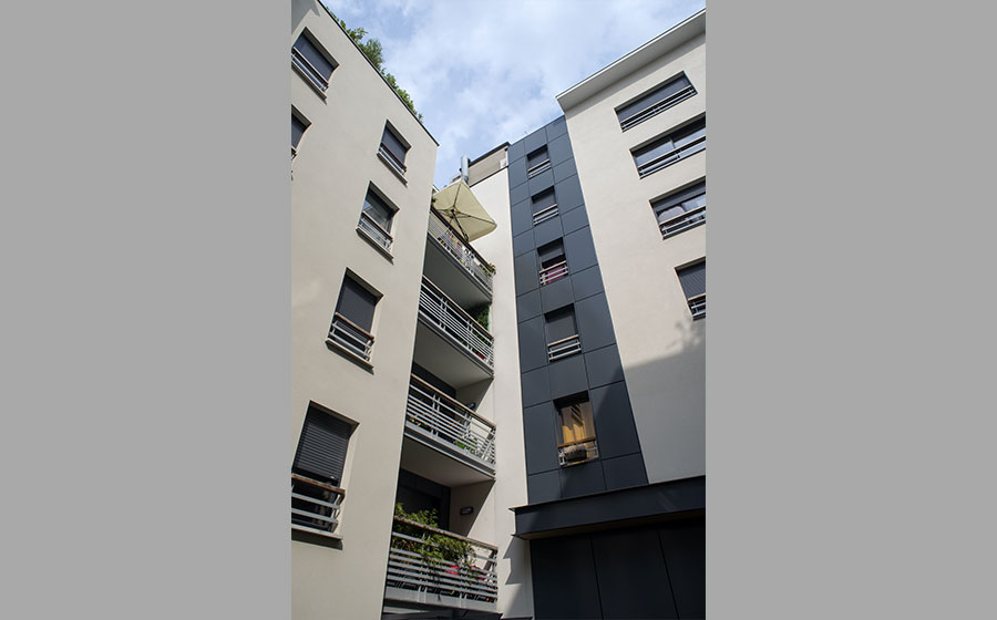 immeuble – logements – logement social – Sogeprom – démolition parking – label HQE – logis transports - Carré d'Arch Architectes Associés