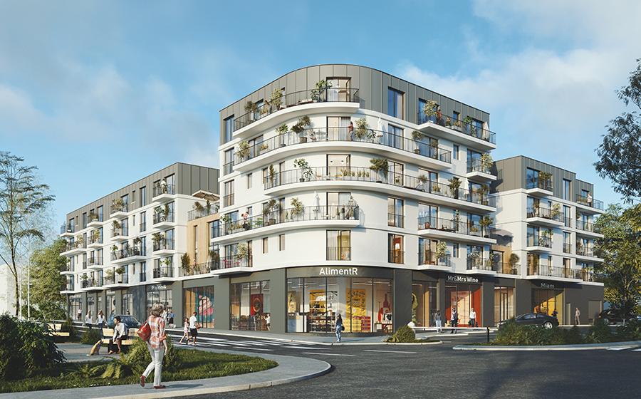 Courbe – Zinc – résidence – paysage – Sopic Paris – Sabernaude - terrasses - Carré d'Arch Architectes Associés