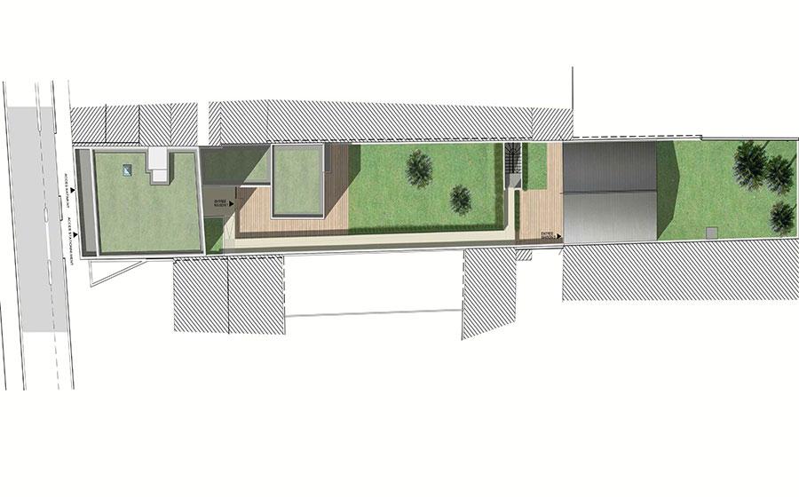 Immeuble  – moderne – standing – maison de ville - contemporain - Carré d'Arch Architectes Associés