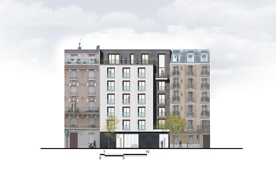 Immeuble – moderne – standing - contemporain - Carré d'Arch Architectes Associés