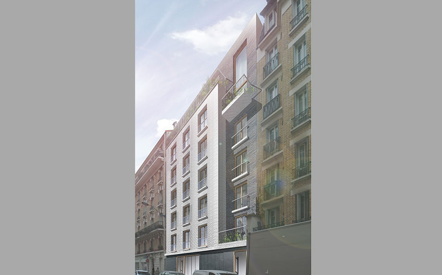 Immeuble – moderne – standing - contemporain - Carré d'Arch Architectes Associés